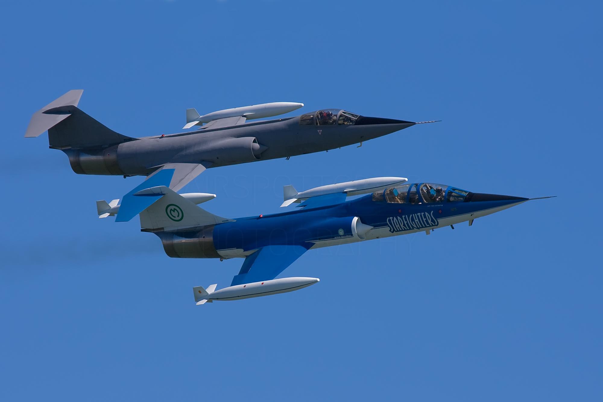 Airspotter.de 2007 Jacksonville Beach Starfighter F-104 dou