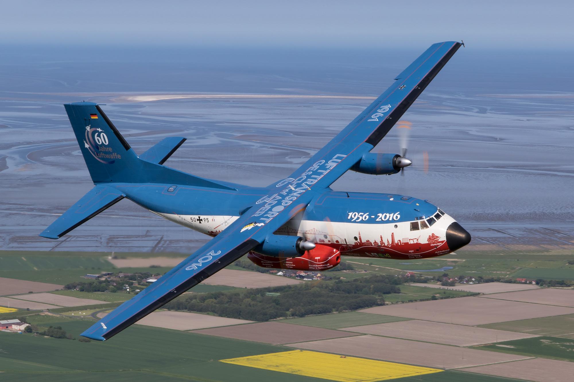 Airspotter.de 2016 Air to Air LTG 63 Transall C-160