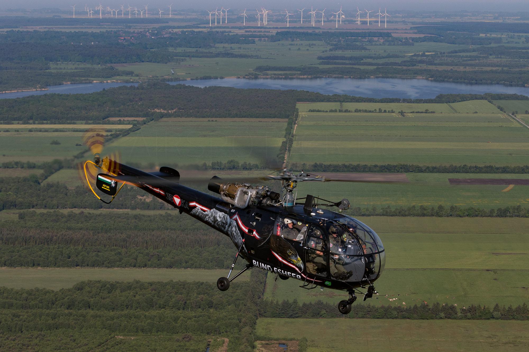 Airspotter.de 2017 Air to Air SAR Meet Bundesheer Alouette III